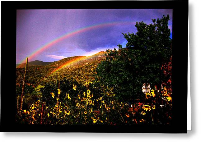 Double Rainbow Greeting Cards - The Prayer Was Answered Greeting Card by Susanne Still