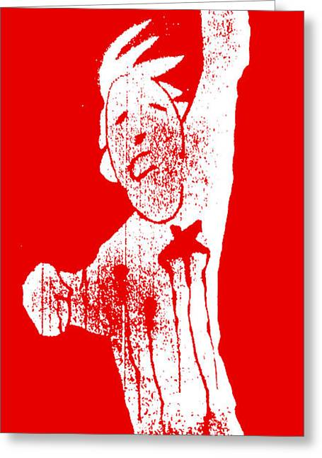 Oppression Mixed Media Greeting Cards - The Price of Freedom Greeting Card by Armando Heredia