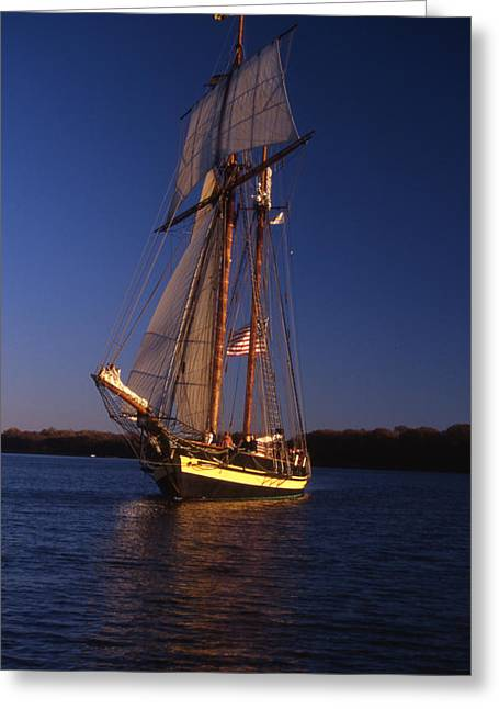 Boat Hardware Greeting Cards - The Pride Ii Of Baltimore Greeting Card by Skip Willits