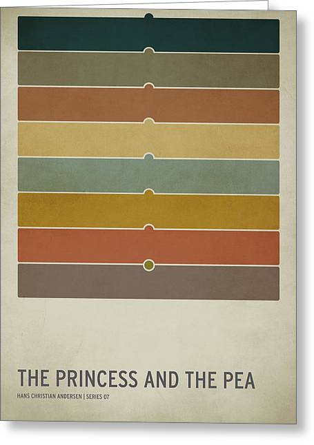 Colors Greeting Cards - The Princess and the Pea Greeting Card by Christian Jackson