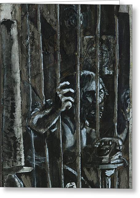 Hearing Greeting Cards - The Prisoner Greeting Card by David Finley