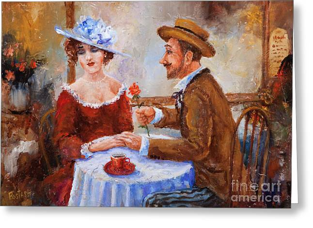 Round Table Greeting Cards - The Proposal Greeting Card by Igor Postash