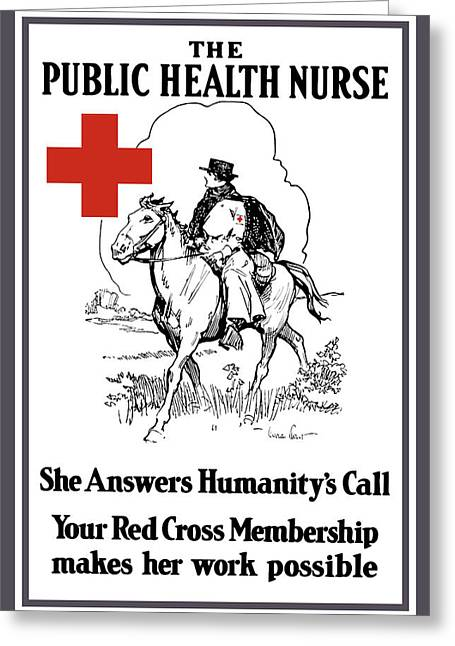 Wwi Greeting Cards - The Public Health Nurse Greeting Card by War Is Hell Store