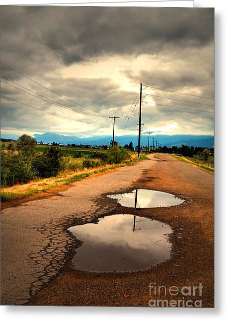 Puddle Greeting Cards - The Puddles Greeting Card by Tara Turner