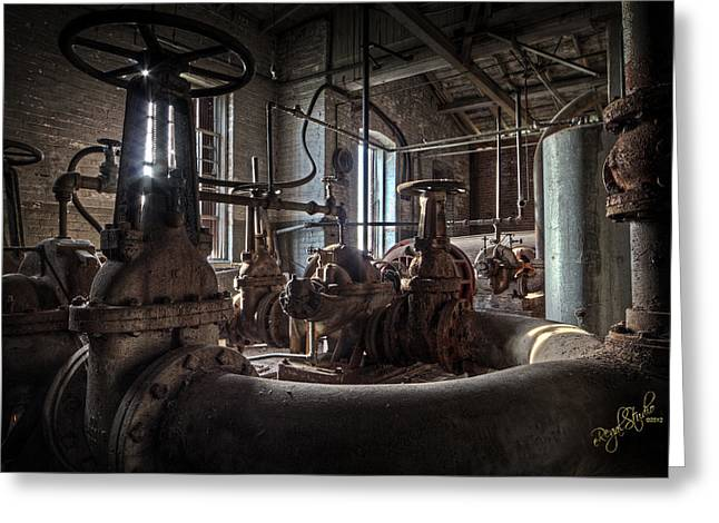 Rust Art Greeting Cards - The Pumphouse Greeting Card by Everet Regal
