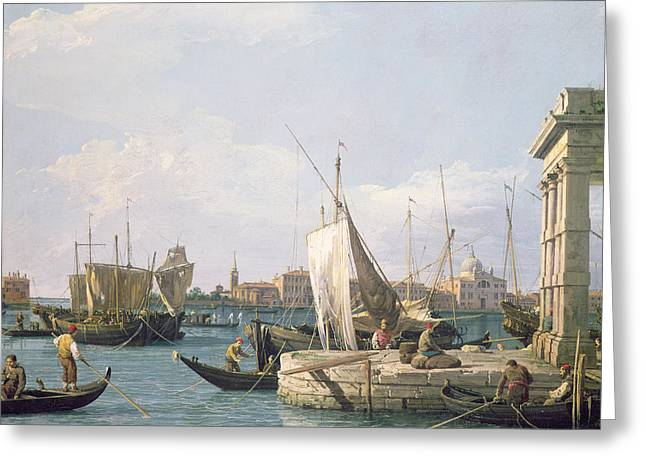 1768 Greeting Cards - The Punta della Dogana Greeting Card by Canaletto