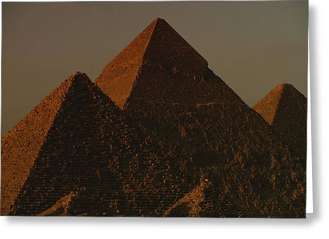 African Heritage Greeting Cards - The Pyramids Of Giza In The Late Greeting Card by Kenneth Garrett
