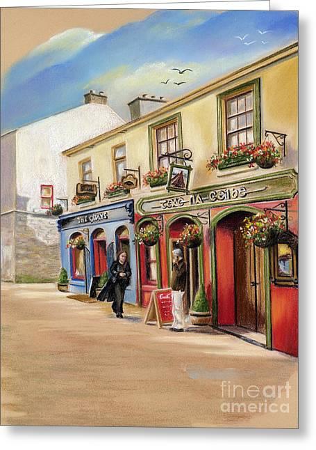 Vanda Luddy Greeting Cards - The Quays Pub Greeting Card by Vanda Luddy