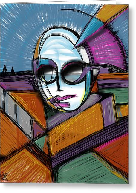Pyramids Mixed Media Greeting Cards - The Queen Greeting Card by Russell Pierce