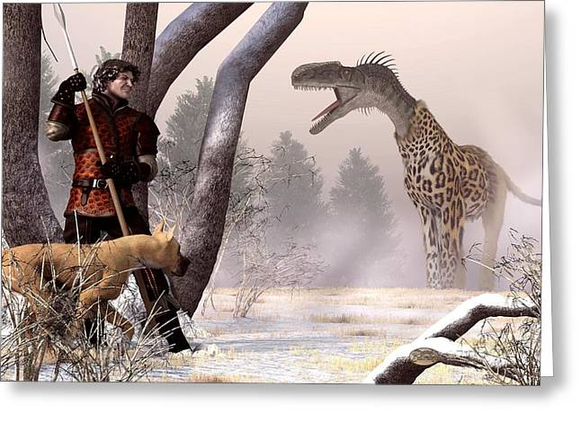 King Arthur Greeting Cards - The Questing Beast Greeting Card by Daniel Eskridge