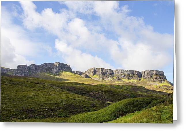 Escarpment Greeting Cards - The Quiraing Greeting Card by Chris Thaxter