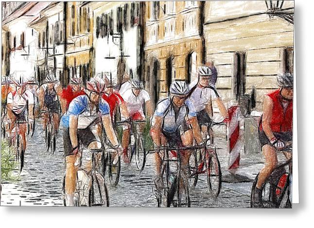 The Race Greeting Card by Stefan Kuhn