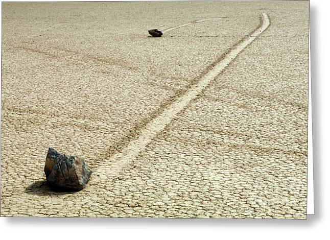 Mountains Of Sand Greeting Cards - The Racetrack 7 Greeting Card by Bob Christopher