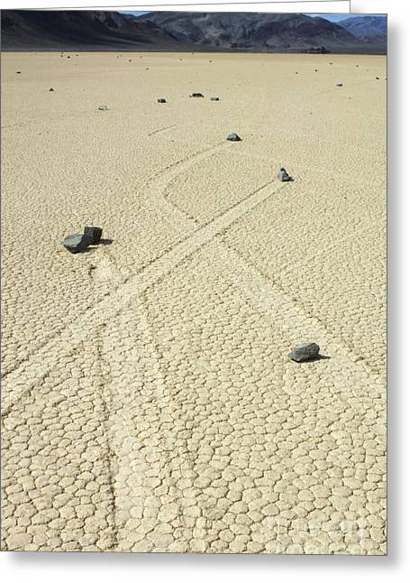 Mountains Of Sand Greeting Cards - The Racetrack 8 Greeting Card by Bob Christopher