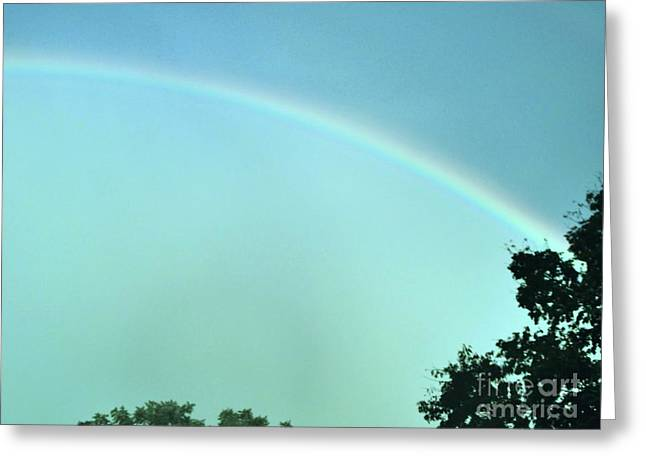 Storm Prints Greeting Cards - The Rainbow Is A Sign Greeting Card by Marsha Heiken