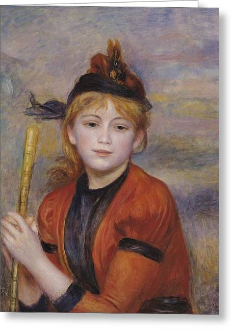 Youthful Paintings Greeting Cards - The Rambler Greeting Card by Pierre Auguste Renoir
