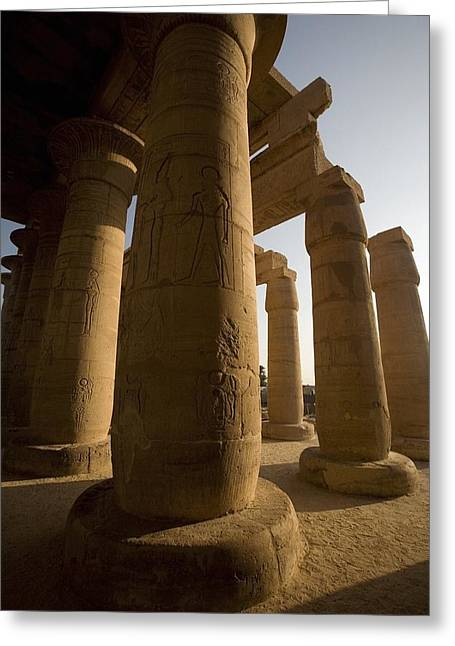 Ancient Ruins Greeting Cards - The Ramesseum, Luxor, Egypt Greeting Card by Deddeda