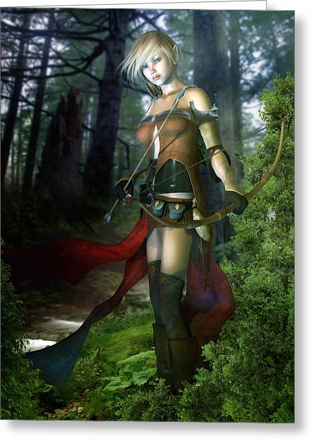 Character Concept Greeting Cards - The Ranger Greeting Card by Karen H