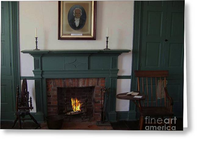 The Rankin Home Fireplace Greeting Card by Charles Robinson