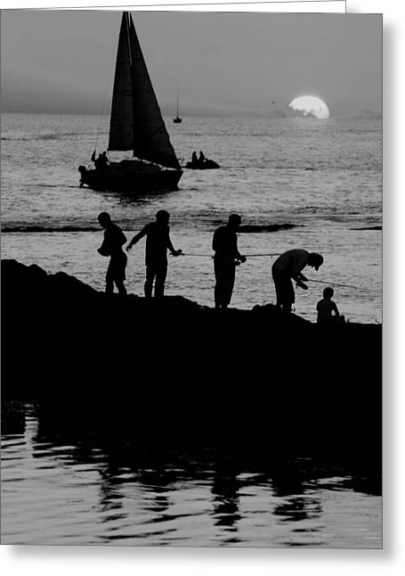 Family Time Greeting Cards - The Real American Pastime Greeting Card by Frozen in Time Fine Art Photography