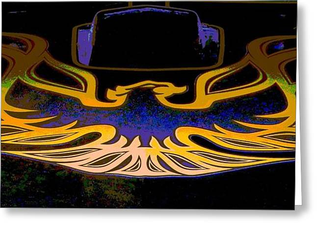 Tricked-out Cars Greeting Cards - The Real Firebird Greeting Card by Chuck Re