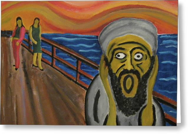 Extremism Paintings Greeting Cards - The Real Terror Greeting Card by Darren Stein