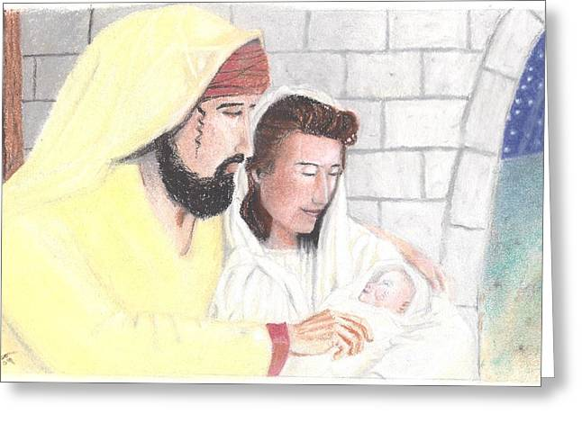 Jesus Pastels Greeting Cards - The Reason for the Season Greeting Card by Shawn Sanderson