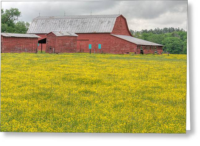 The Red Barn Greeting Card by JC Findley