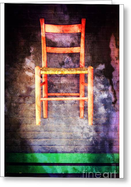 Cedarburg Greeting Cards - The Red Chair Greeting Card by Mary Machare