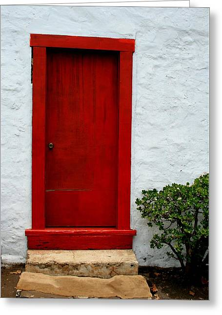 Holy Ghost Church Greeting Cards - The Red Door Greeting Card by Karon Melillo DeVega