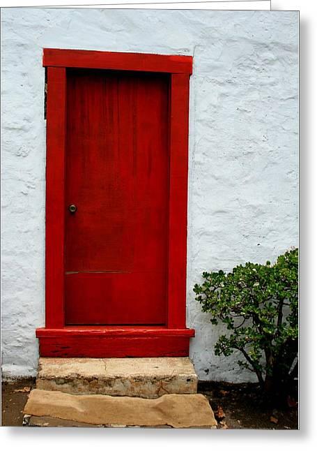 Kula Greeting Cards - The Red Door Greeting Card by Karon Melillo DeVega