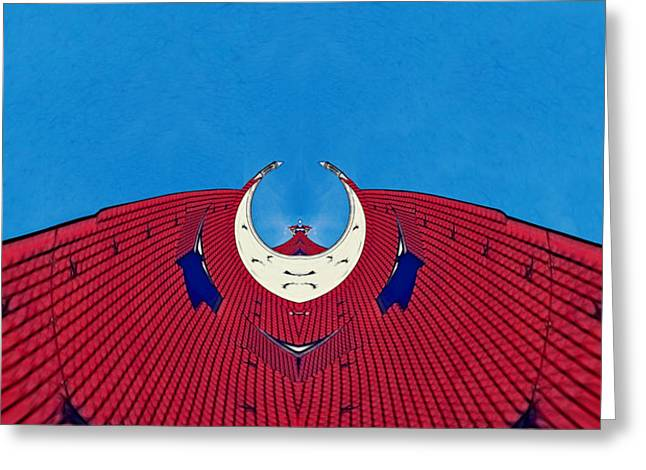the red dress - Archifou 71 Greeting Card by Aimelle