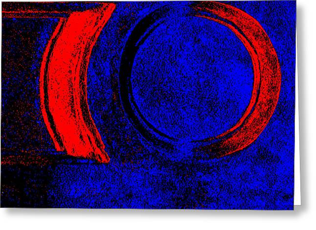 Digital Altered Greeting Cards - The Red Ring The Enterprise Greeting Card by Adriano Pecchio