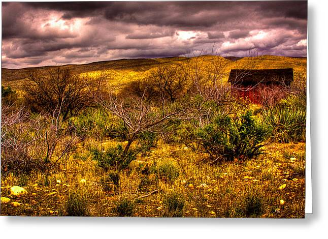 The Red Shed At Red Rock Canyon Greeting Card by David Patterson