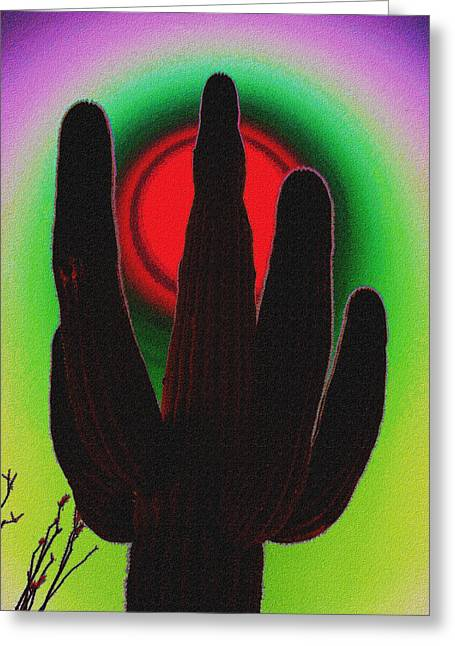 Botanical Greeting Cards - The red Sun Greeting Card by Susanne Van Hulst