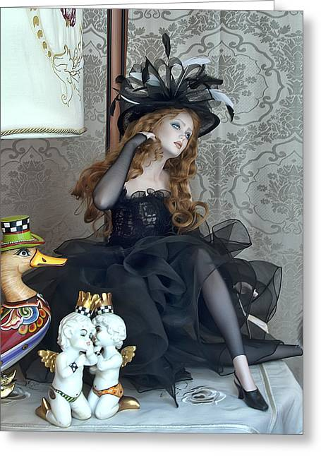 Toy Store Digital Art Greeting Cards - The Redhead Greeting Card by Donna Lee Blais