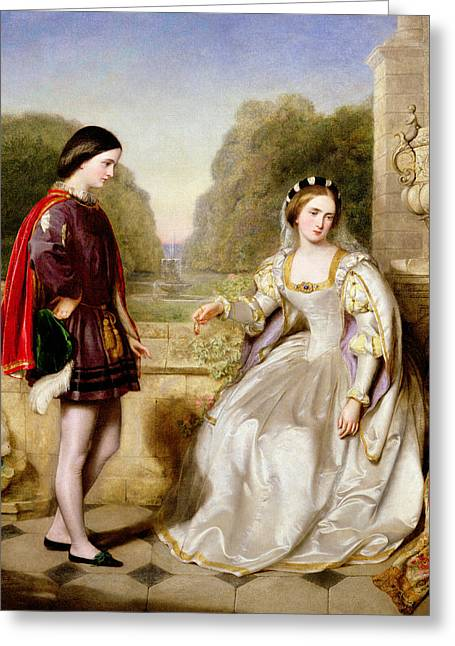 Sentimental Greeting Cards - The Refusal Greeting Card by Edward Hughes