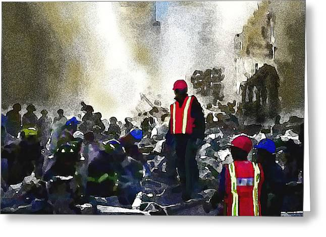 Hijacker Greeting Cards - The Rescuers Greeting Card by Jann Paxton