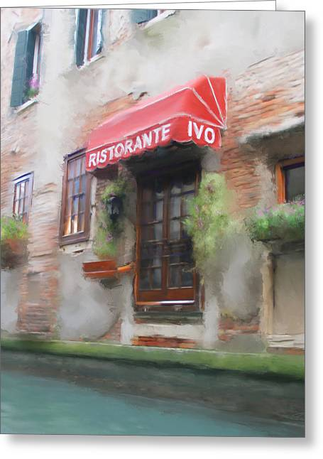 Italian Restaurant Digital Greeting Cards - The Restaurant Greeting Card by  Angel Pachkowski