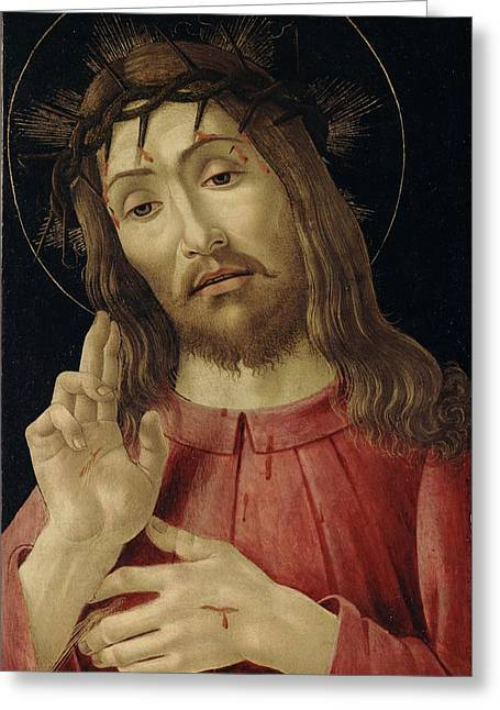 Resurrected Lord Greeting Cards - The Resurrected Christ Greeting Card by Sandro Botticelli