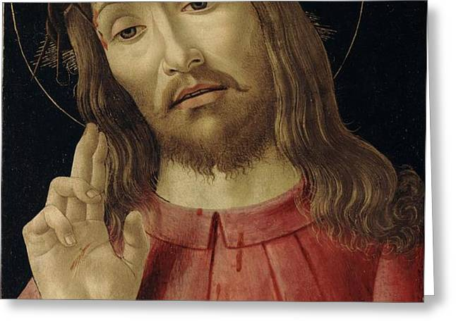 The Resurrected Christ Greeting Card by Sandro Botticelli