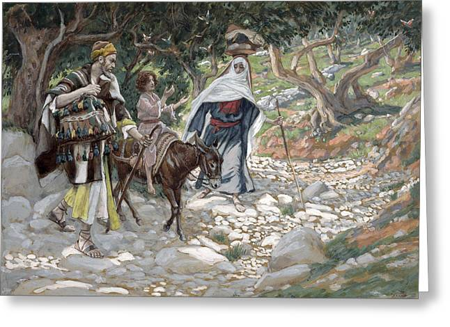 Kid Paintings Greeting Cards - The Return from Egypt Greeting Card by Tissot