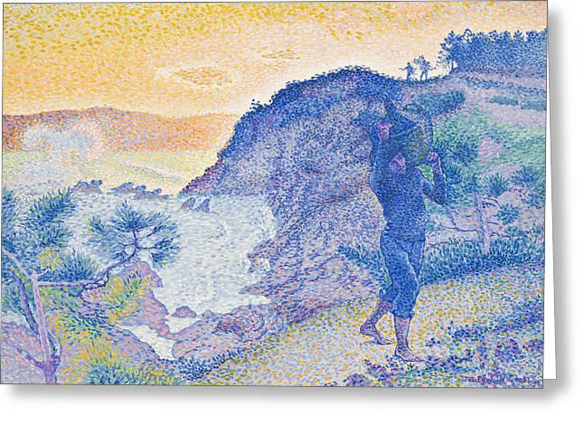The Return Of The Fisherman Greeting Card by Henri-Edmond Cross
