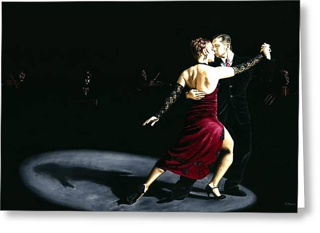 Tango Greeting Cards - The Rhythm of Tango Greeting Card by Richard Young