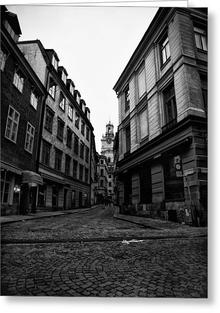 The Right Way Stockholm Greeting Card by Stelios Kleanthous