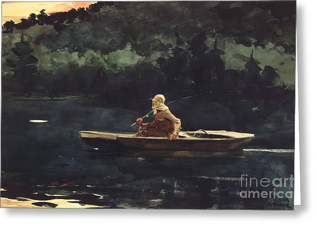 Trout Fishing Greeting Cards - The Rise Greeting Card by Pg Reproductions
