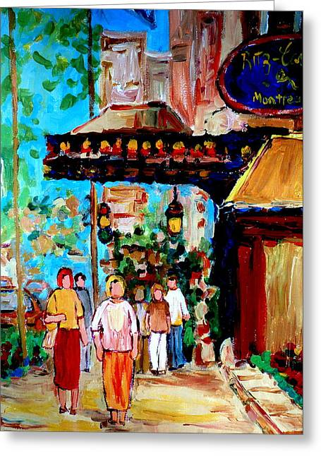 Renoir. Interior Paintings Greeting Cards - The Ritz Carlton In Spring Greeting Card by Carole Spandau