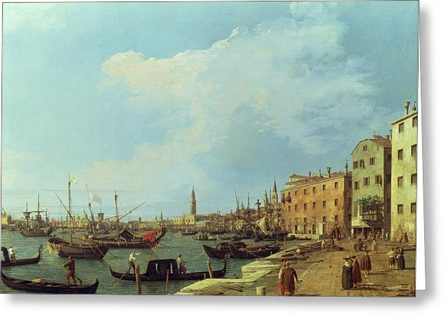 1768 Greeting Cards - The Riva Degli Schiavoni Greeting Card by Canaletto