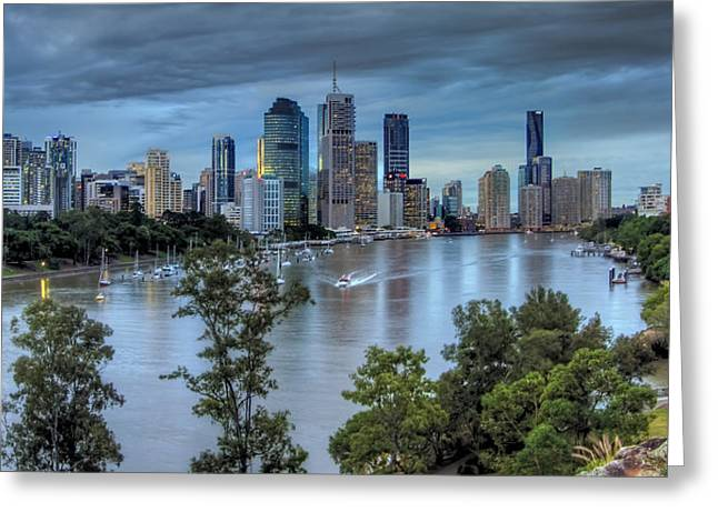 The River Commute Greeting Card by Mark Lucey