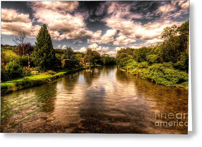 The River Exe At Bickleigh Greeting Card by Rob Hawkins